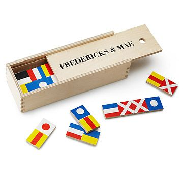 Look what I found at UncommonGoods: Nautical Flag Dominoes for $80 #uncommongoods
