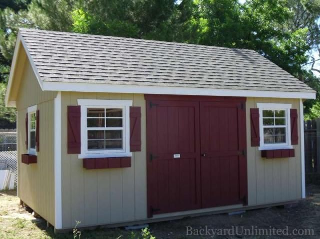 12x16 garden shed with flower boxes and additional window http - Garden Sheds Madison Wi