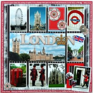 #papercraft #scrapbook #layout #Travel London by leanne