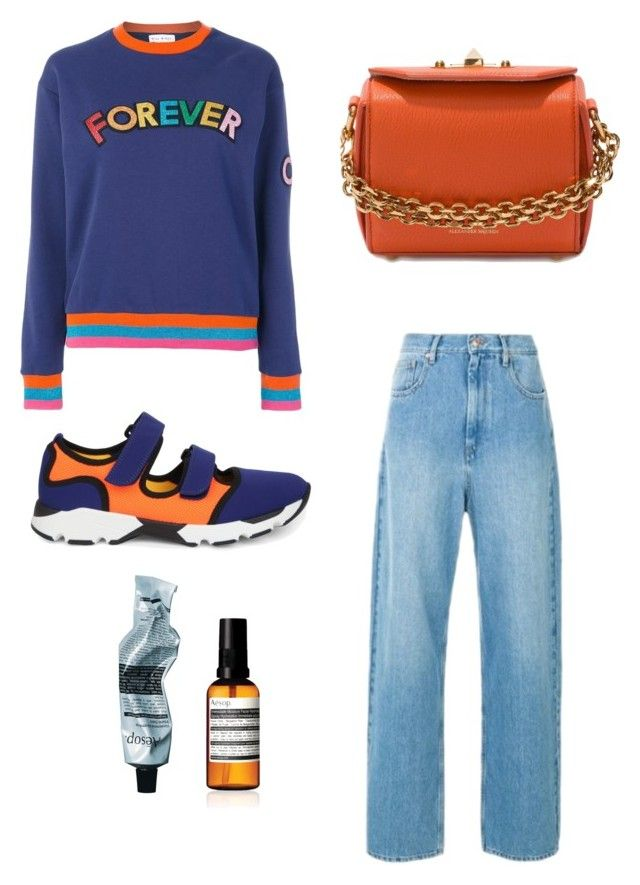"""""""Blue and Orange"""" by oheytita on Polyvore featuring Alexander McQueen, Étoile Isabel Marant, Marni, Aesop and Mira Mikati"""