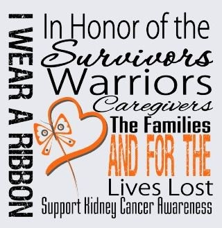 Kidney cancer jewelry and info site