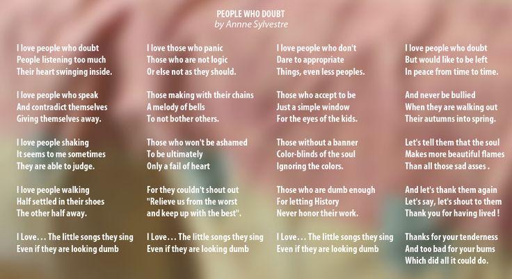 People who doubt