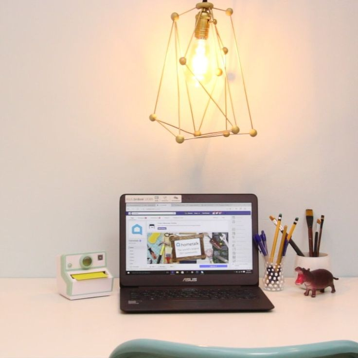 Make an Industrial Light Fixture From Skewers