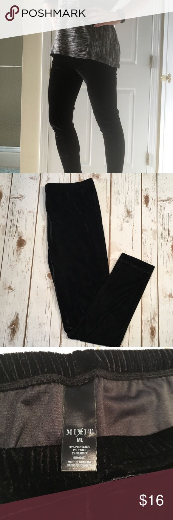 """{Velvet} Skinny Leg High Wasted Pants Like new!  Awesome high wasted velvet pants perfect for the cooler weather!  Size Medium Long, but I am only 5'4"""" and they fit me well, please see measurements.  Skinny leg.   Rise ~10.5"""" Inseam~26.5"""" Ankle laid flat~5"""" Mixit Pants Skinny"""
