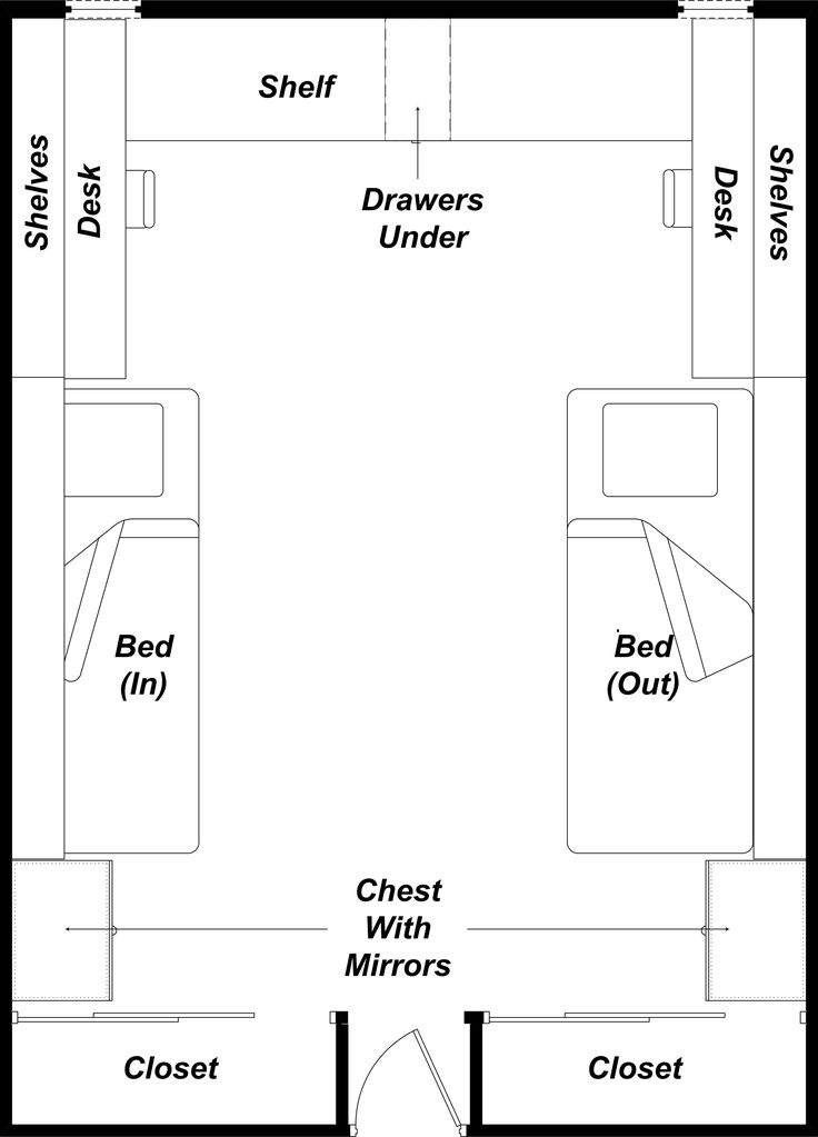 Dorm layout inspiration for exposition from the deep for Design your dorm room layout