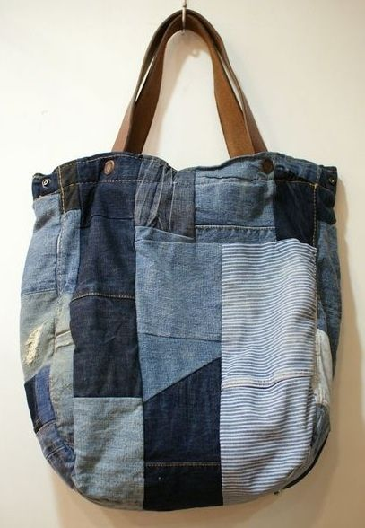 Recycling old jeans