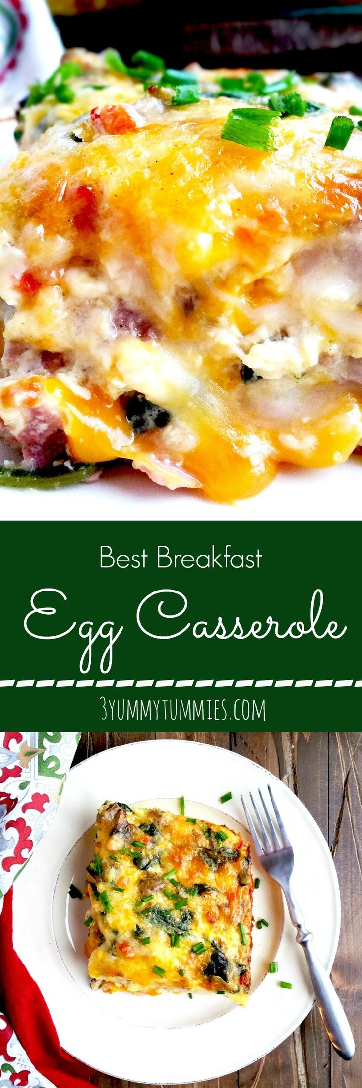 This is the ultimate breakfast casserole that is perfect for Christmas brunch with a crescent roll crust!