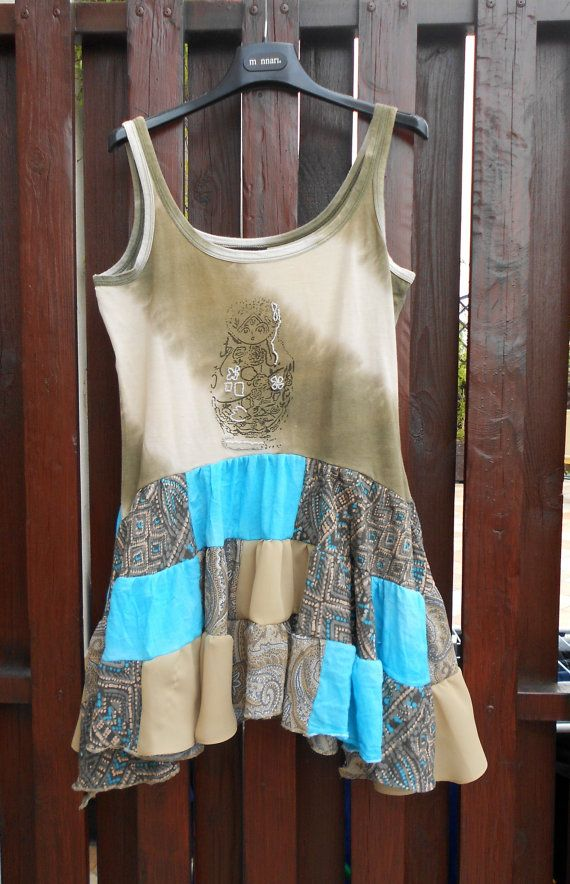 Turquoise + antique gold and beige - by POLetsy by poletsy on Etsy