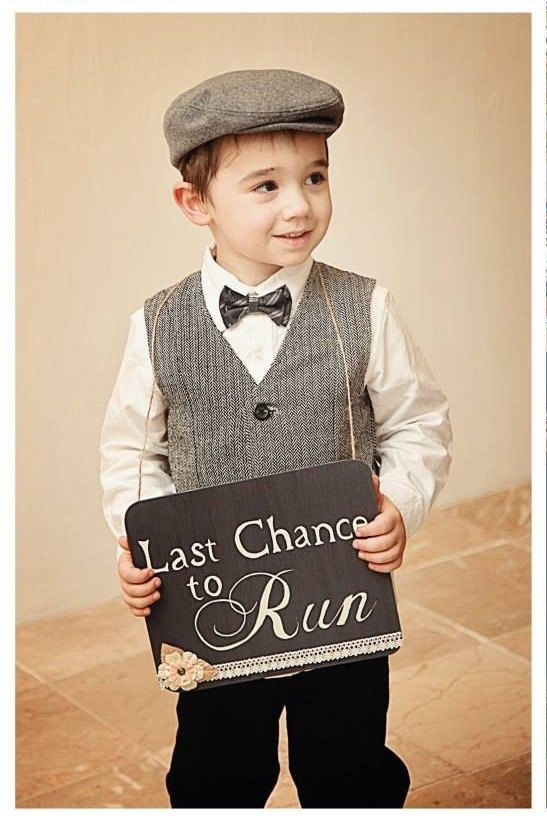 Last chance to run ring bearer wedding sign by VintageCreekStudio, $28.00