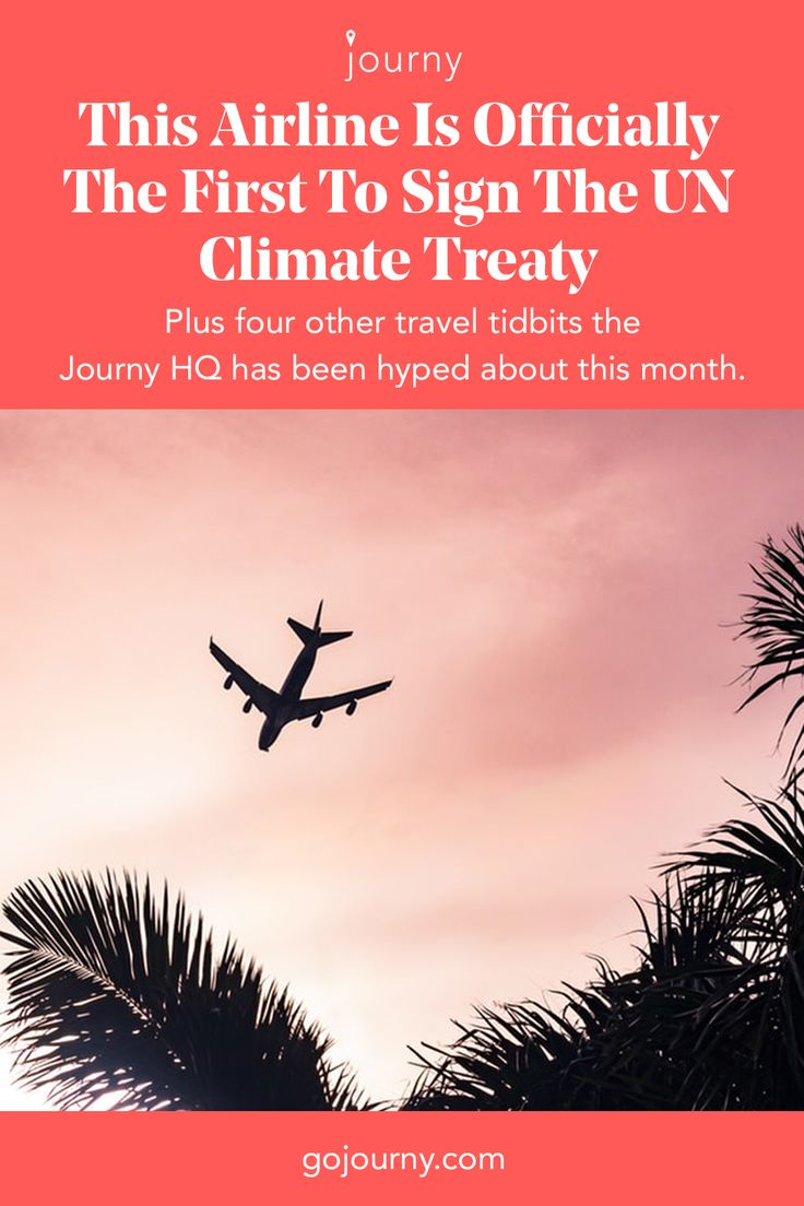 This Airline Is Officially The First To Sign The Un Climate Treaty Climates Airline Travel
