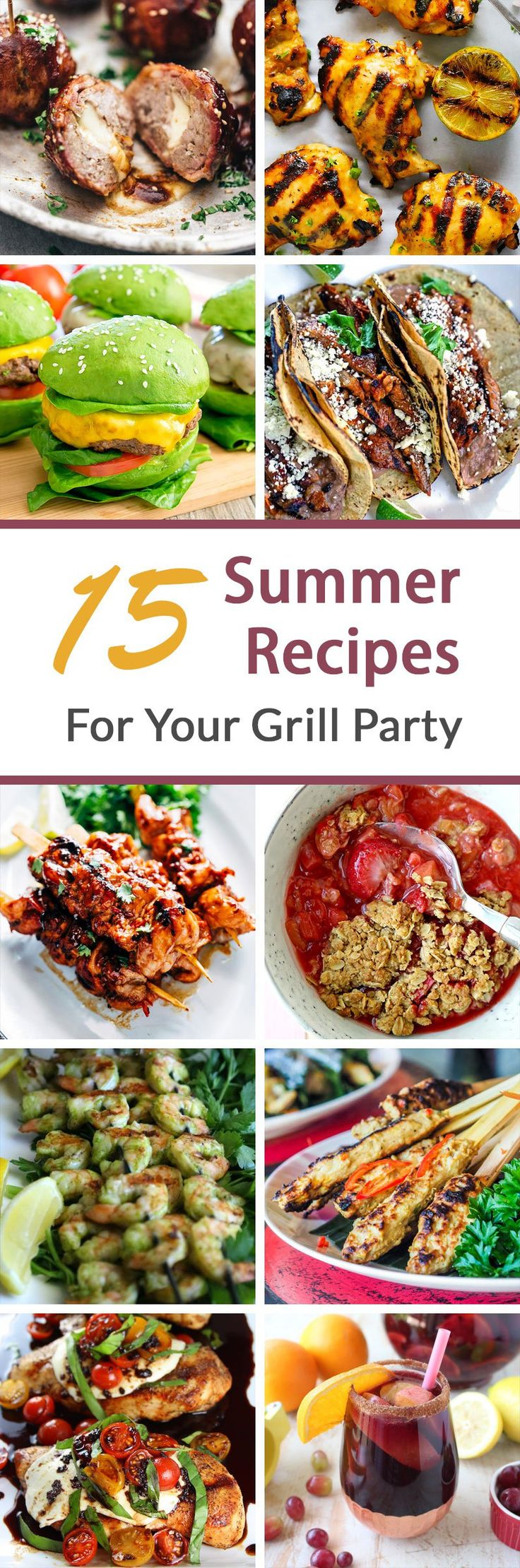 15 Best Summer Recipes For Your Grill Party