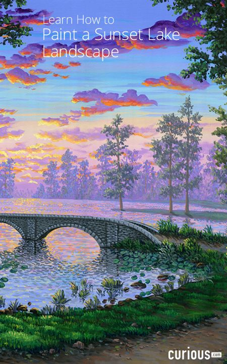 Complete a detailed acrylic landscape painting by following along with professional artist Ben Saber. Throughout this 10-lesson course, develop expert painting techniques on color use, perspective, and painting realistic reflections and light effects.