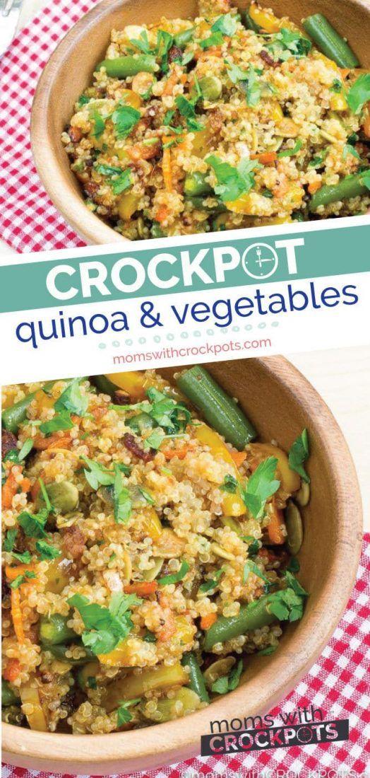 Crockpot Quinoa and Vegetables Recipe