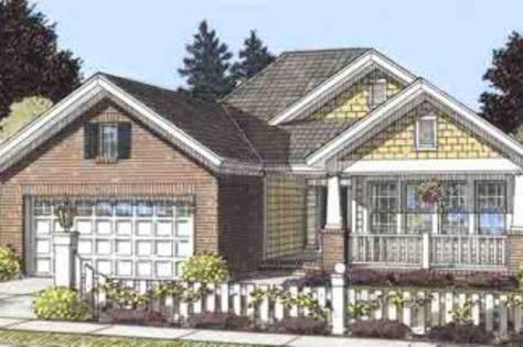 Craftsman Style House Plan - 4 Beds 2 Baths 1560 Sq/Ft Plan #20-1514 Exterior - Front Elevation - Houseplans.com