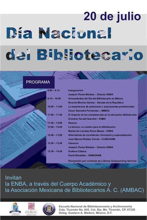 DÍa del Bibliotecario mexicano