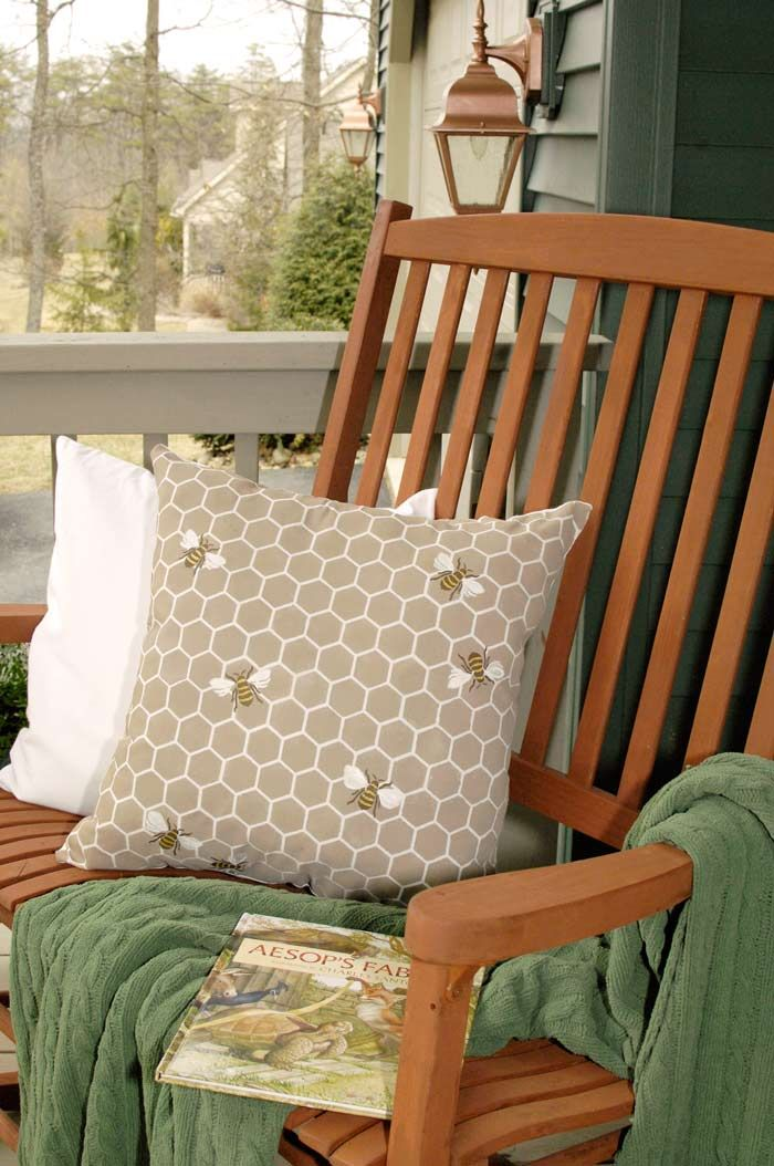 D Bees Unfinished Furniture Bee-pillow DIY by Life...