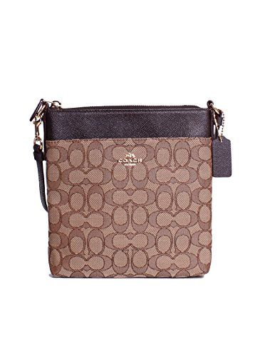 7af22946c4 COACH Womens Signature Messenger Crossbody