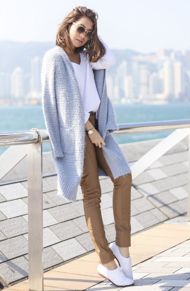 Модные цвета года по версии Pantone: нежно-голубой, нежно-розовый, вязаные тренды 2016, вязаная мода 2016, модные вязаные вещи 2016, стильный вязаный джемпер кардиган (фото 20)