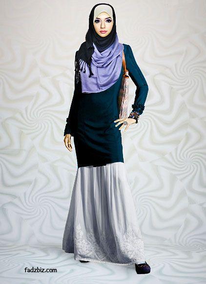 OOTD... baju kurung moden + pashmina silk shawl