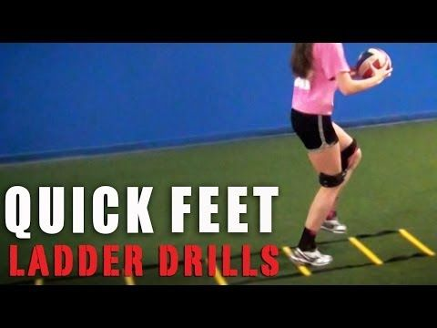 Volleyball Quick Feet Ladder Drills with Kinetic Bands