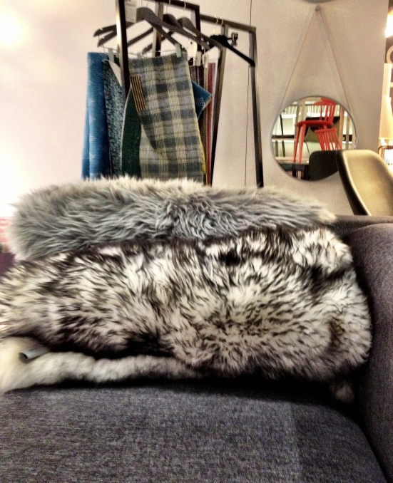 Muna Home grey & grizzled sheepskins at diseno store