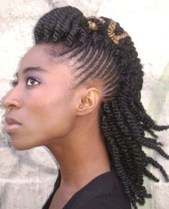 Medium African Coiled Hairstyle