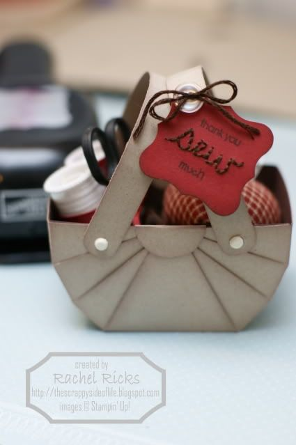 How to make this adorable little basket out of cardstock - tutorial