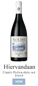 A classic Rhône-style blend of Shiraz, Mourvedre, Grenache, Carignan and Viognier, with a twist: a portion (18%) of the Shiraz was desiccated on the vine. Only the skins of the Viognier were used, fermented till dry and left in the dark for three weeks. Matured for 13 months in mostly new French oak. Dark colour, intense flavours, dried orange peel aromas. Great food wine with ageing potential.