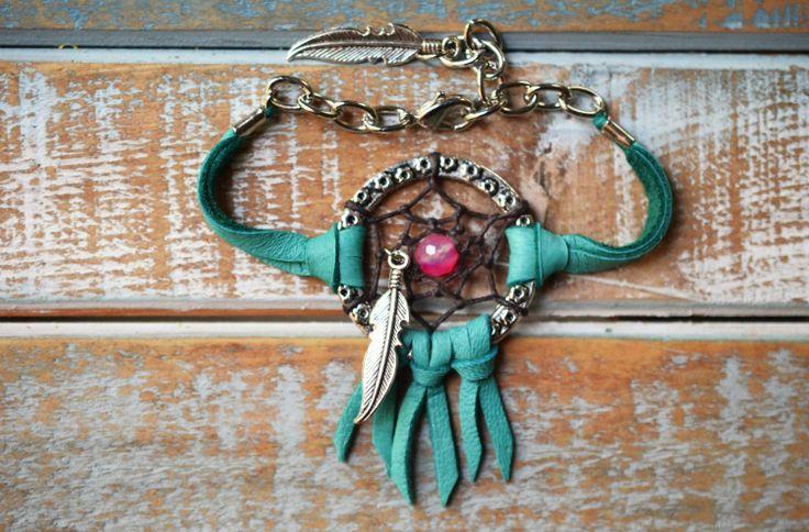 Turquoise Dreamcatcher Bracelet. BohoChic by TurquoiseCrush, $21.99