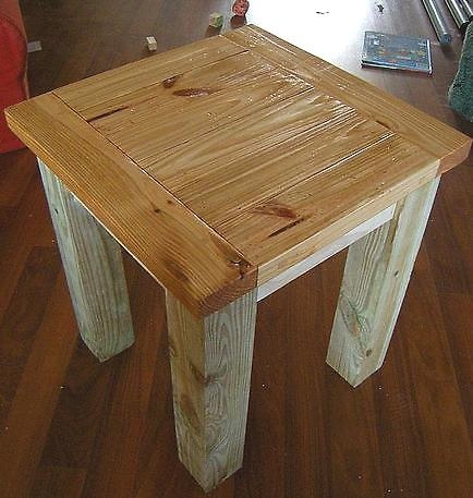 Rustic end table plans woodworking projects plans for Diy rustic end tables