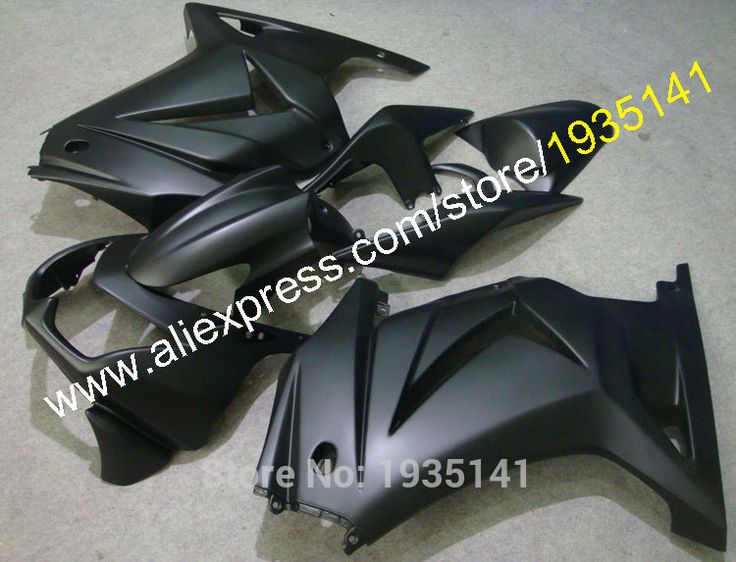 Hot Sales,Gloss black body For Kawasaki  EX250 08 09 10 11 12 fairing ZX-250 2008-2012 Cowling Ninja ZX 250R (Injection molding)