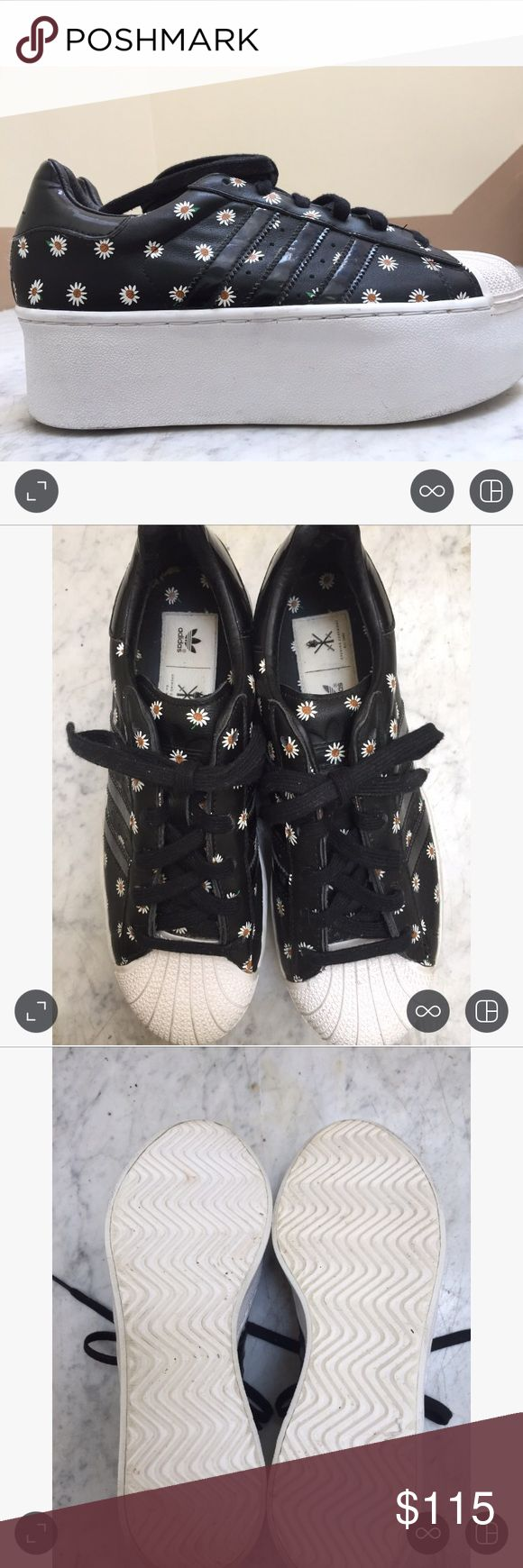 """Opening Ceremony X Adidas Sneakers Opening Ceremony X Adidas sneakers with platform-like heel and leather. Approximately 2"""". Not in production anymore. In great condition. Opening Ceremony Shoes"""