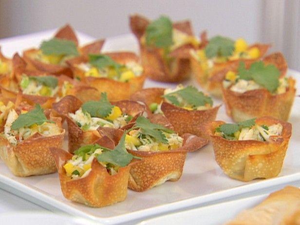 Crab Salad in Crisp Wonton Cups   Recipe