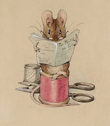 """From the book """"The Tailor of Gloucester""""  written and illustrated by Beatrix Potter ... Think """"Peter Rabbit"""""""