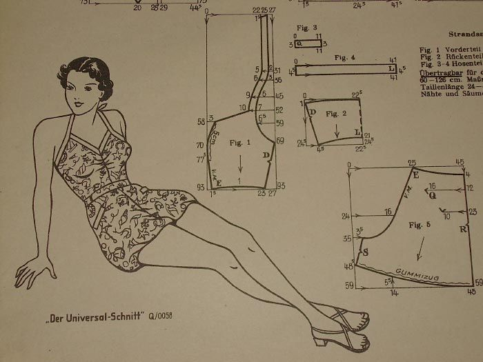DIY Vintage Swimsuit - FREE Sewing Pattern Draft