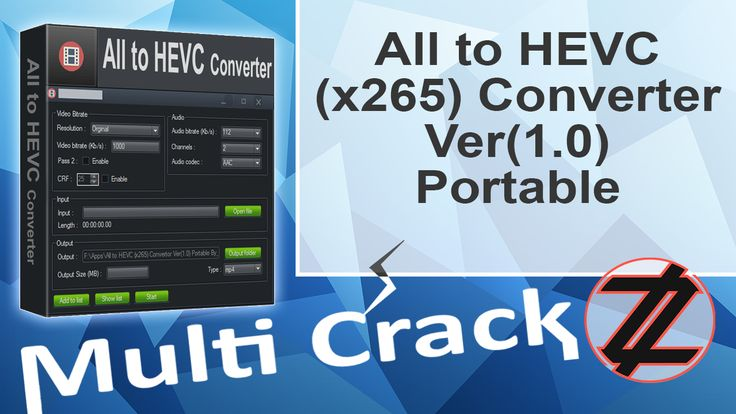 All to HEVC (x265) Converter Ver(1.0) Portable By_ Zuket Creation Direct Download Here !!! http://multicrackk.blogspot.com/2016/02/all-to-hevc-x265-converter-ver10.html