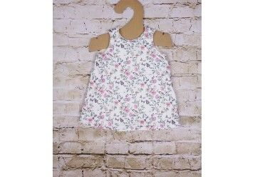Reversible baby dress Parisian Chic 100% ORGANIC COTTON