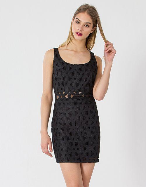 The little black lace dress