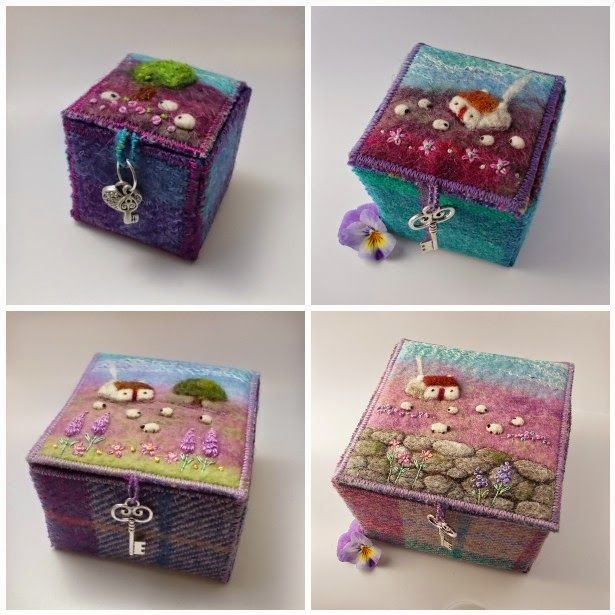 Textile+Trinket+Boxes+felt+and+tweed+by+Aileen+Clarke+Crafts.jpg (615×615)