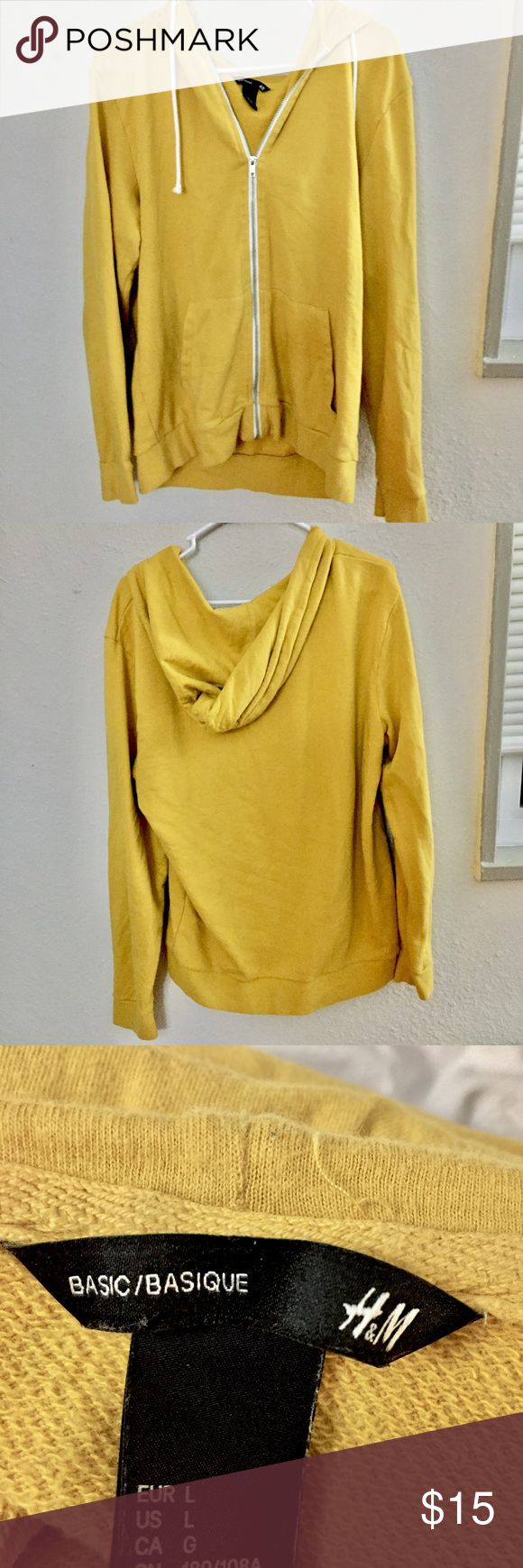 Yellow zip up hoodie Yellow zip up hoodie. Good condition. Comfy. Feel free to leave an offer! H&M Sweaters