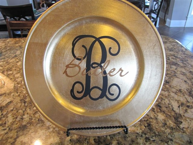 personalized plate chargers