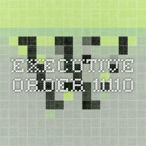 Executive Order 11110
