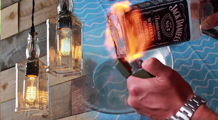 This DIY lighting project is made entirely from upcycled old bottles. Make good use of Jack Daniels bottles and repurpose them into these DIY pendant lights