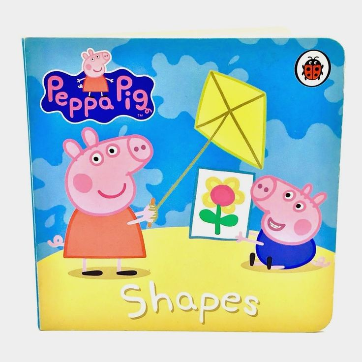 Pepper Pig Book Shapes By Ladybird Books Children's Toddlers Babies Kids Gift 🎁