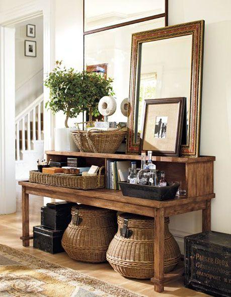 24 ideas para decorar con cestos de fibras naturales   Decoración
