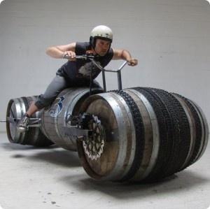 Wine barrel soapbox derby: Motorcycles, Boxes Racers, Wine Barrels, Soaps Boxes, Stuff, Beer Barrels, Soapbox Derby, Funny Cars, Barrels Bike