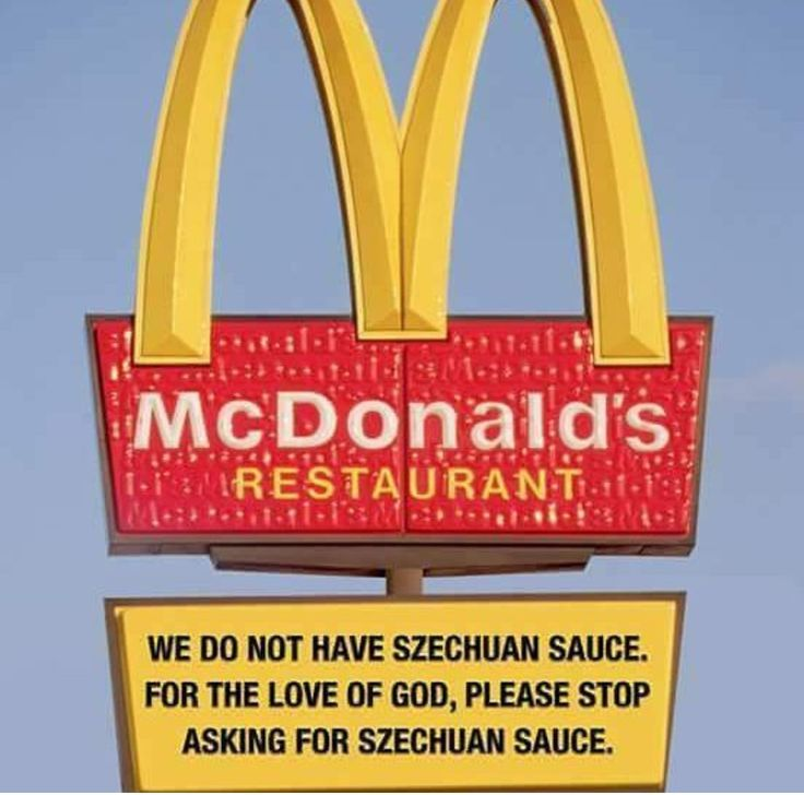 """""""In 1998, they had this promotion for the Disney film 'Mulan' where they--where they-they created a new sauce for the McNuggets called Szechuan sauce, and it's delicious! And then they got rid of it, and now it's gone. This is the only place we're gonna be able to try it, is in my memory"""""""