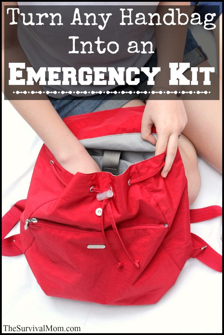 If you think you need a military style backpack in order to be prepared, you really don't. Let me show you how to turn any handbag into an emergency kit!