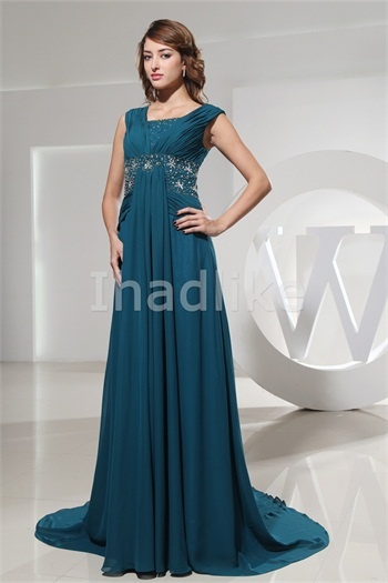 Capped Sleeves Beading Train Mother of the Bride Dresses Wholesale Price: US$ 149.99