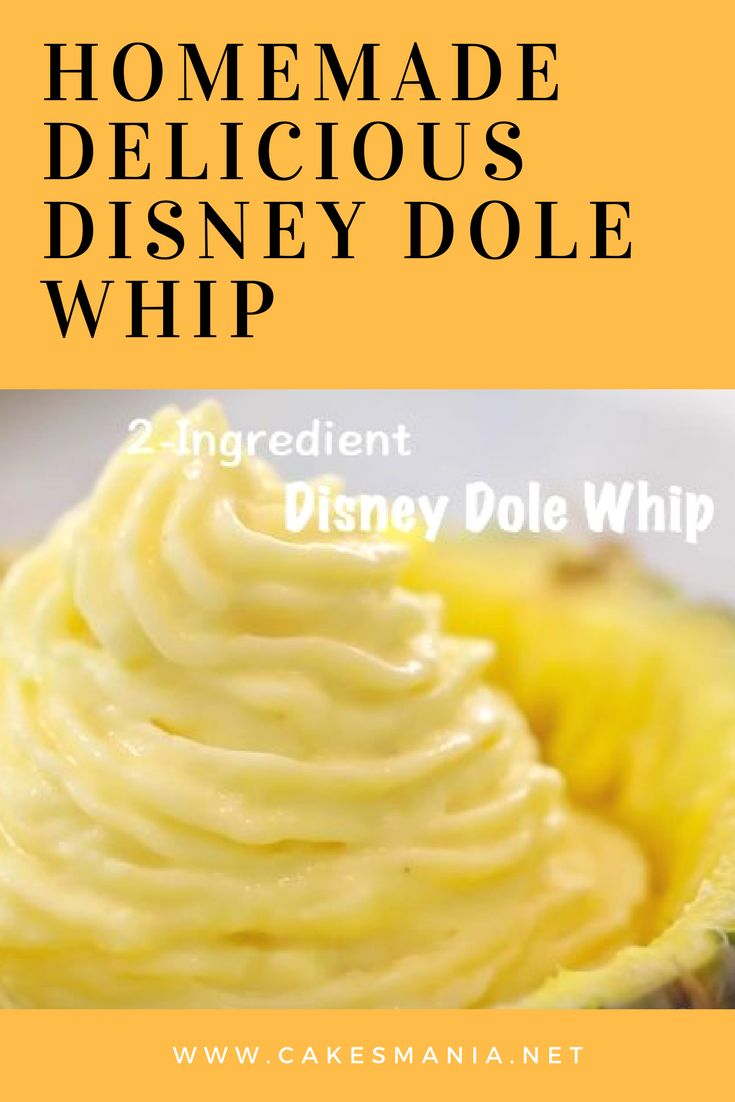 Homemade Delicious Disney Dole Whip with Only Two Ingredients